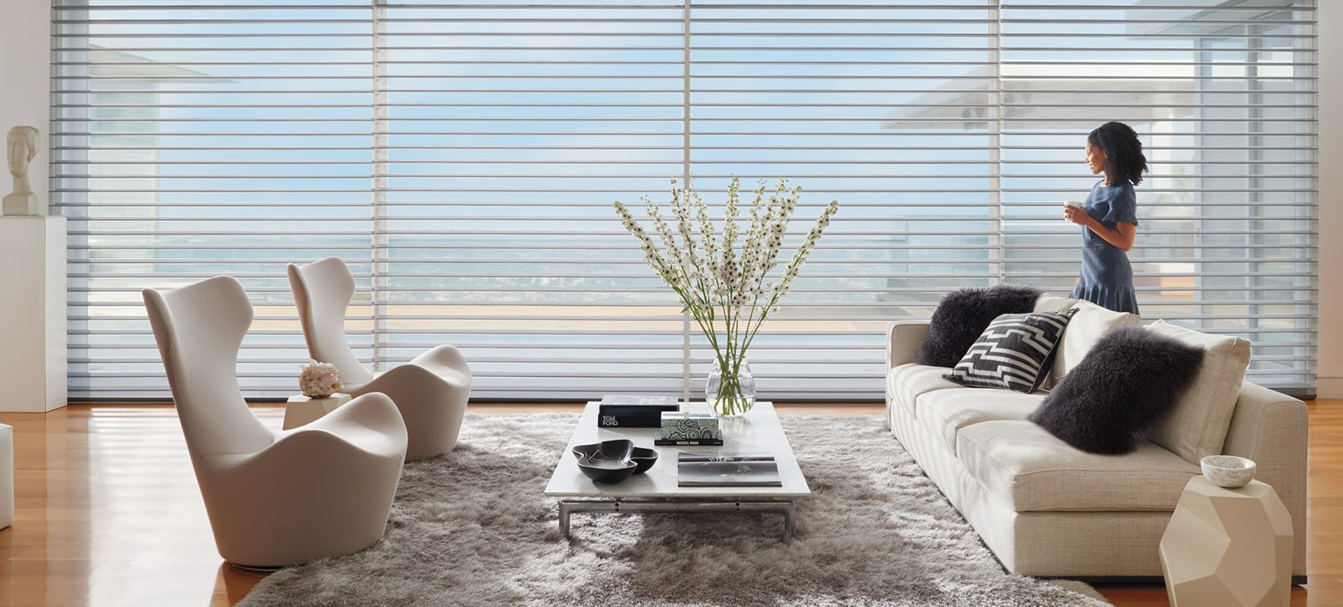 Custom Sheer Shades from Window Treatments by Design
