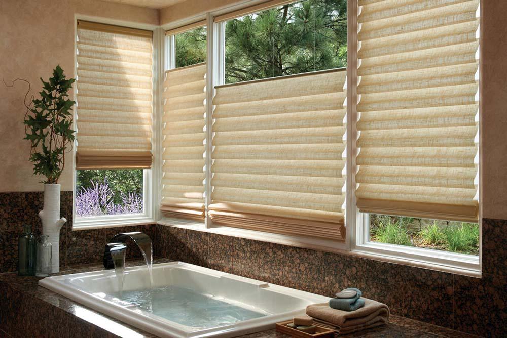 Bathroom Oasis Window Treatments