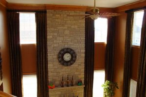 Living Room Curtains in Hawthorn Woods Illinois